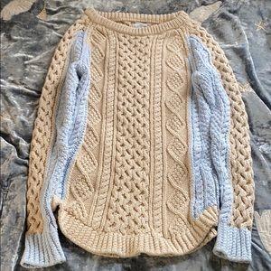 LL Bean Signature Cotton Fisherman Tunic Sweater